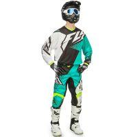 Fly - 2016 Kinetic Vector Mesh комплект штаны и джерси, бело-голубой