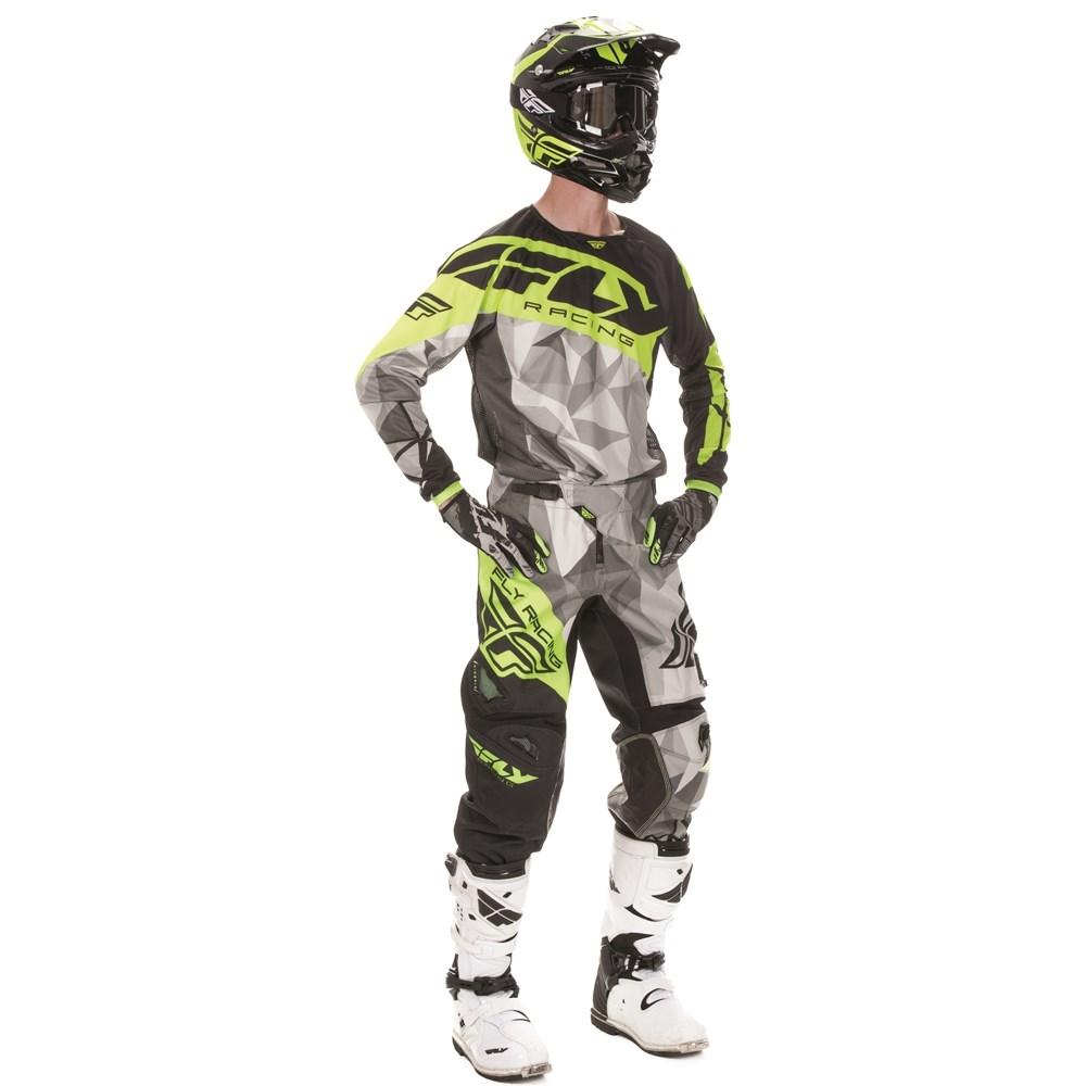 FLY - 2017 Kinetic Crux комплект штаны и джерси, черный-HI-VIZ