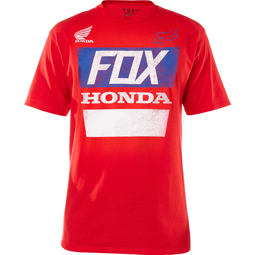 Fox - 2017 Honda Distressed Basic Tee футболка, красная