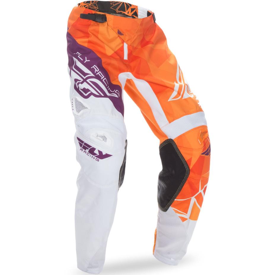 FLY - 2017 Kinetic Crux штаны подростковые, оранжево-бело-фиолетовые