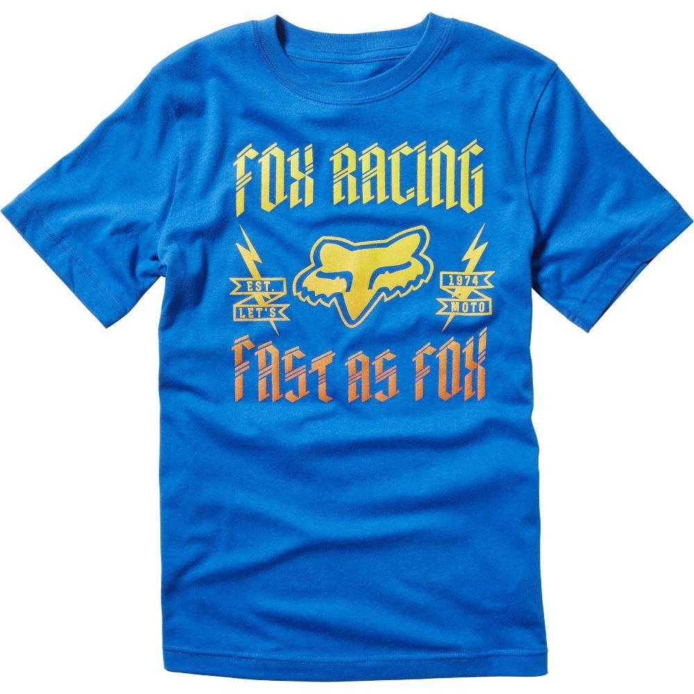Fox - 2017 Youth Ruppe SS Tee Tru футболка подростковая, синяя