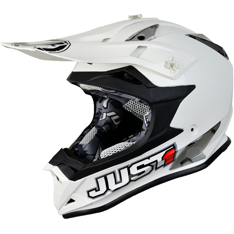 Just1 - J32 Pro Solid White шлем, белый